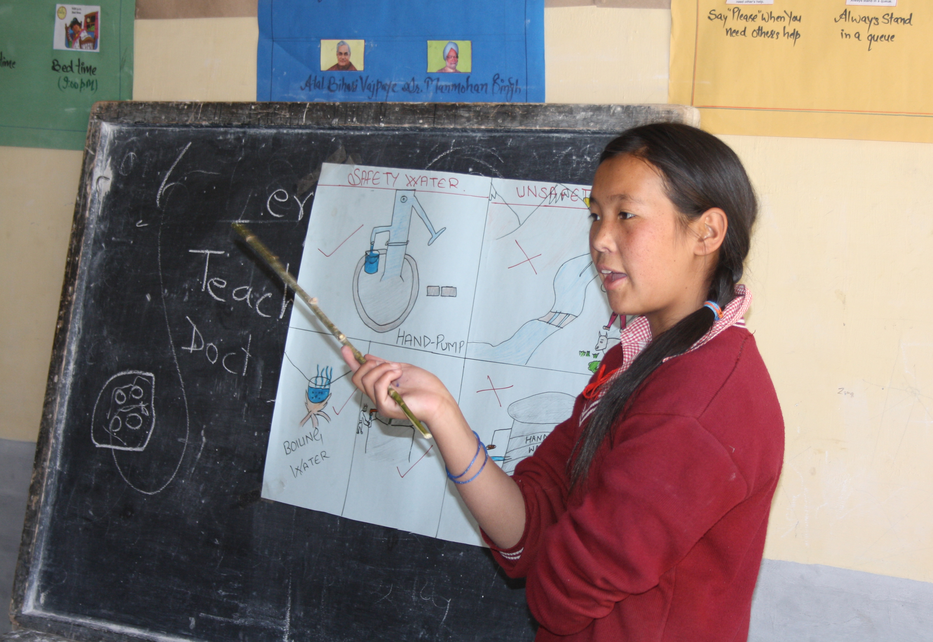 UBC Global Health India Spiti Girl Teaching