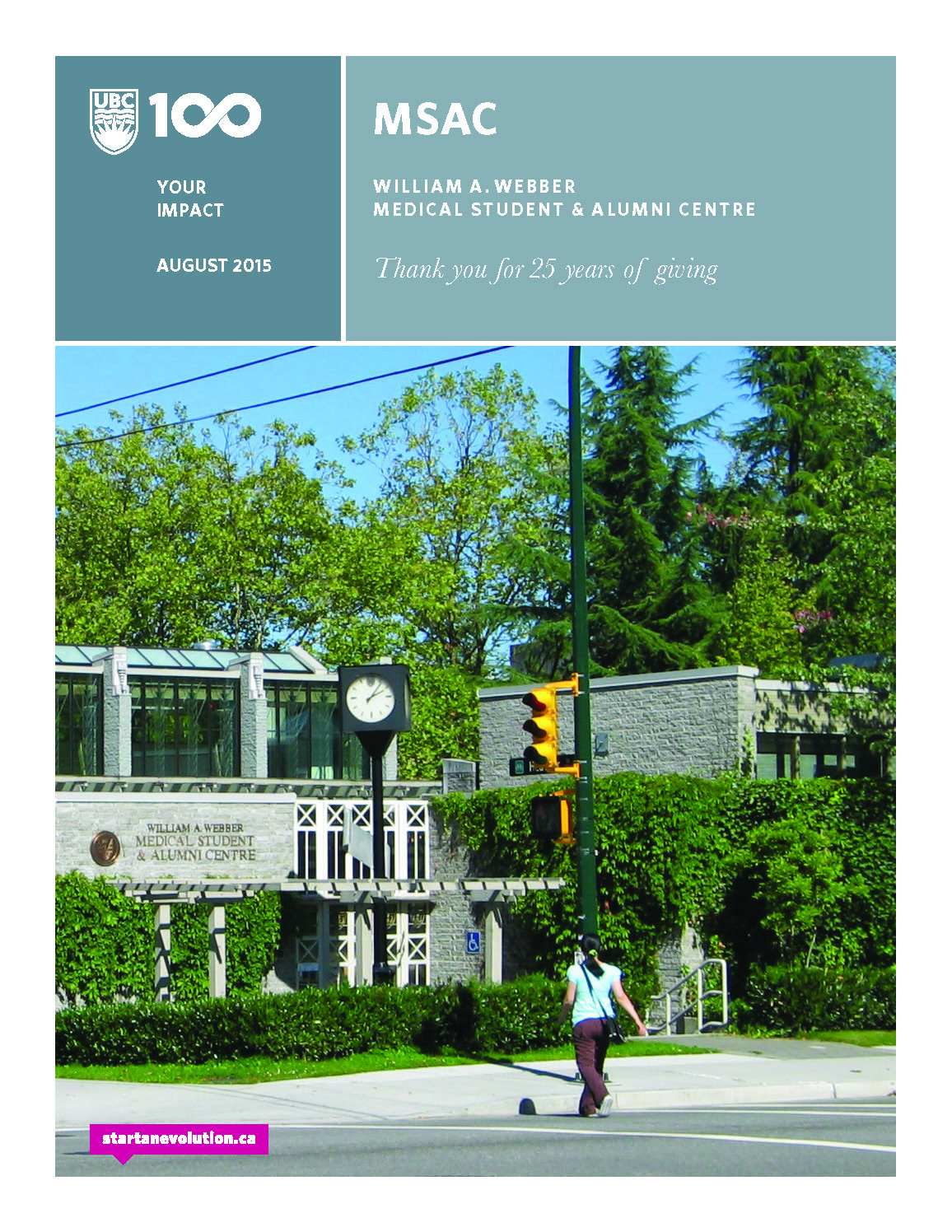 Student and Alumni Centre Report Cover