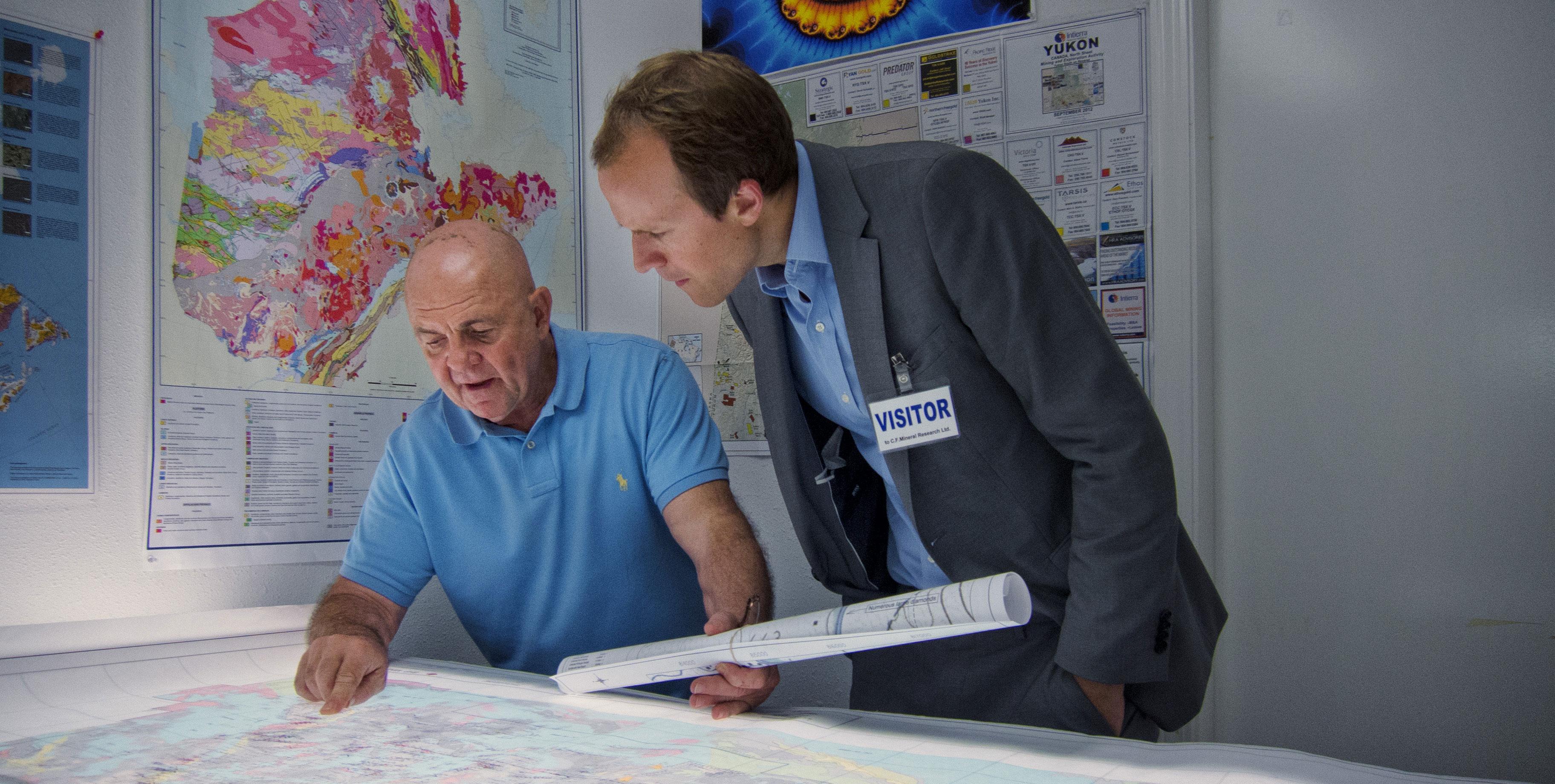 Charles Fipke, left, with Fipke Professor in Alzheimer's Research Haakon Nygaard. Photo: Brian Kladko